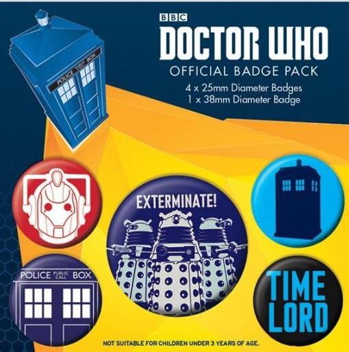 Conjunto de 5 Pins Doctor Who Exterminate