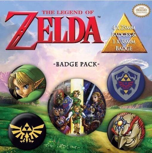 Conjunto de 5 Pins The Legend of Zelda