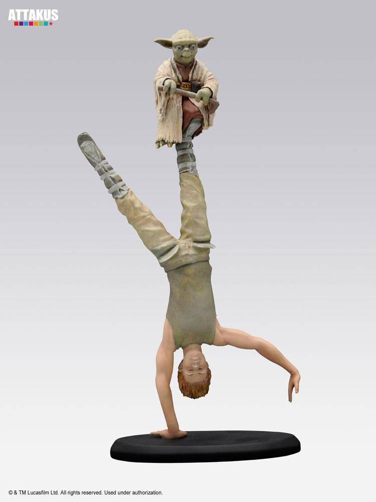 Star Wars Elite Collection Yoda & Luke Skywalker Dagobah Training 26 cm