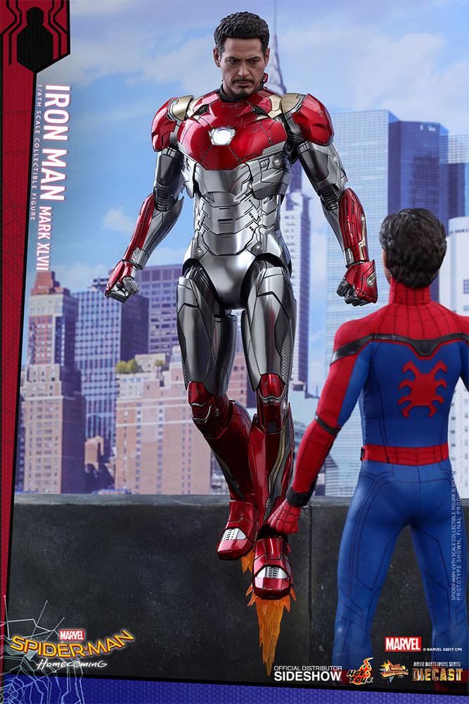 Spider-Man Homecoming Movie Masterpiece Diecast AF 1/6 Iron Man Mark XLVII