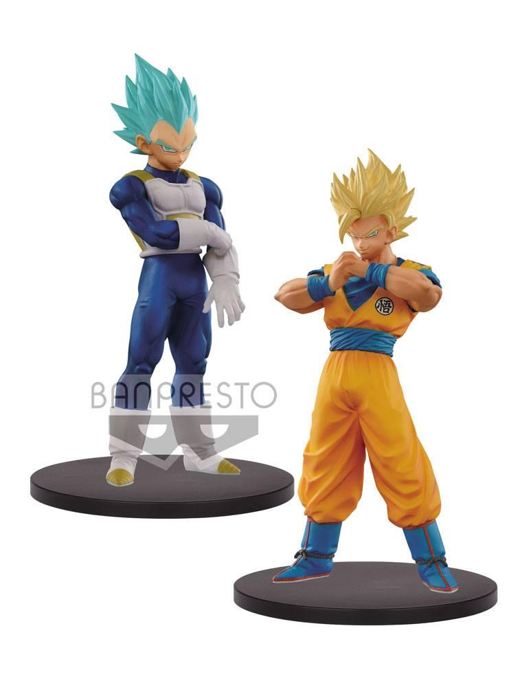 Dragonball Super Warriors DXF Figures SSJ 2 Goku & SSJ Blue Vegeta 18 cm