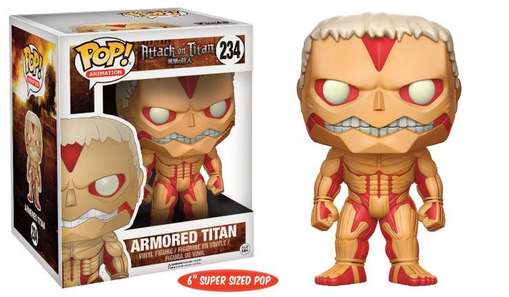 Pop! Anime: Attack on Titan Super Sized Armored Titan Vinyl Figure 15 cm