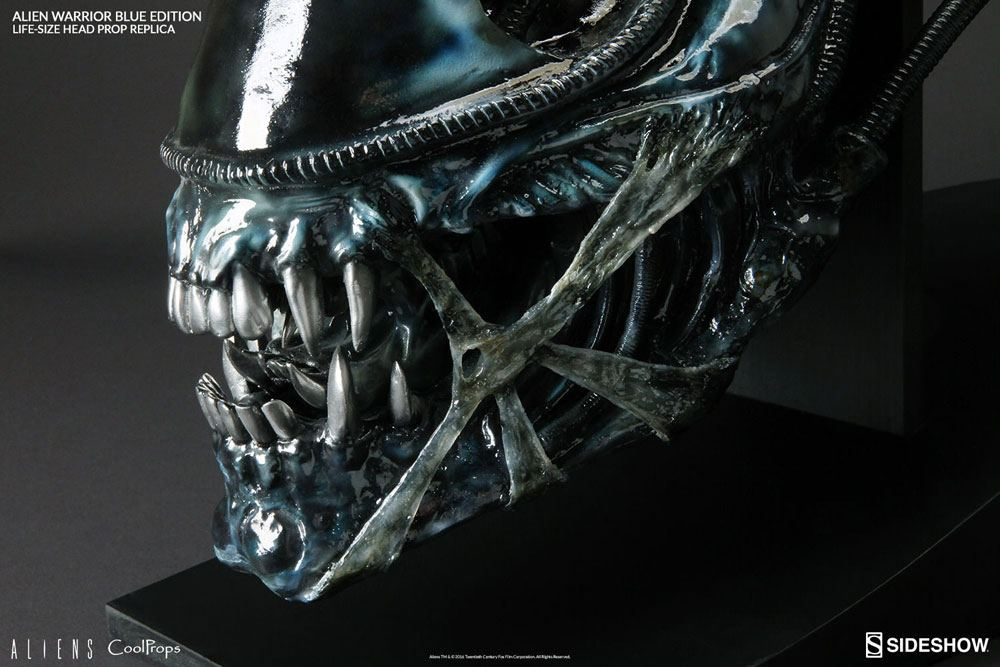 Aliens Replica 1/1 Alien Warrior Head Blue Edition 45 cm