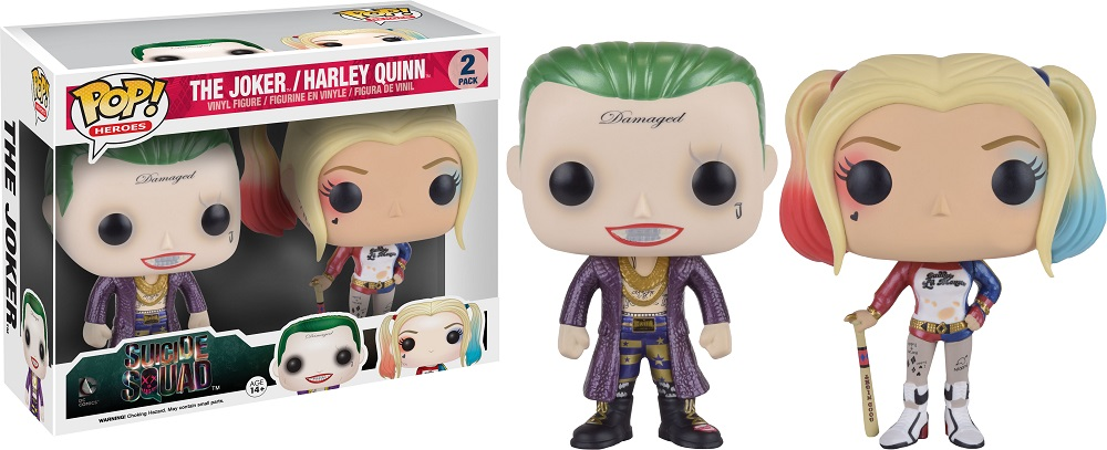 Pop! DC: Suicide Squad Metallic Joker & Harley Quinn 2 Pack Limited Edition
