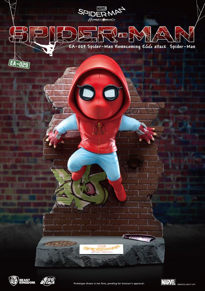 Spider-Man Homecoming Egg Attack Statue Spider-Man 32 cm