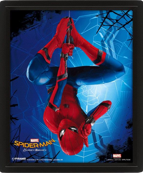 Moldura Premium com Efeito 3D Marvel Spiderman Homecoming 26 x 20 cm