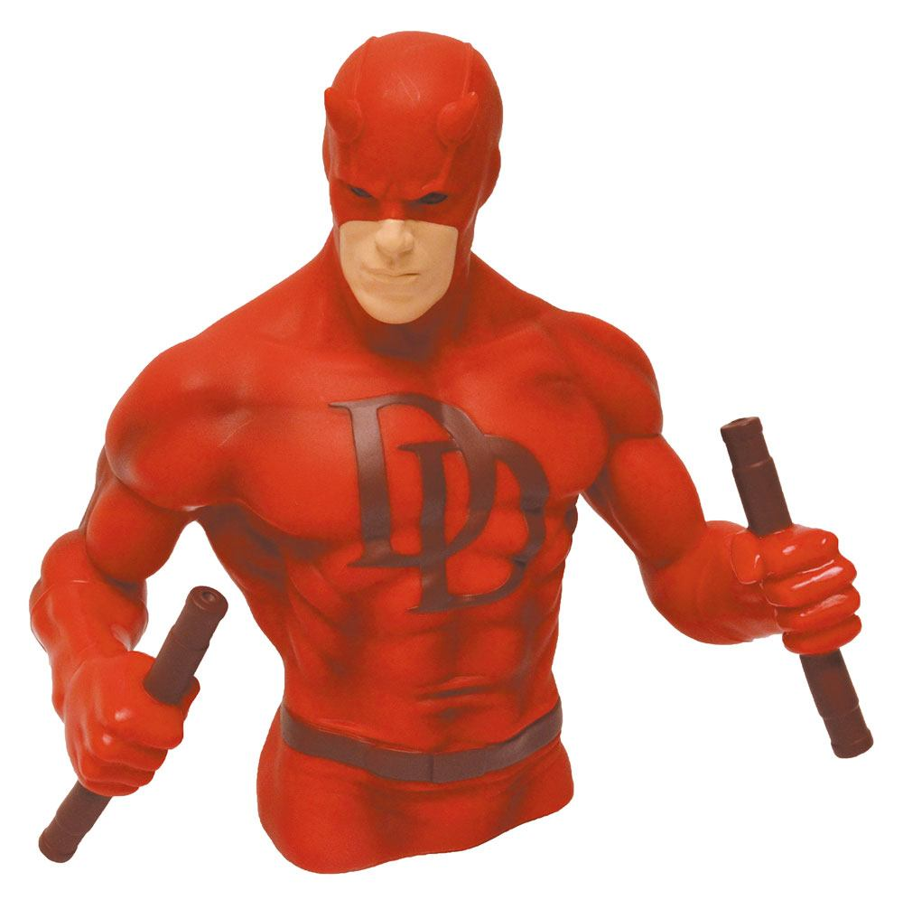 Marvel Comics Bust Bank Daredevil Red Version Previews Exclusive 15 cm