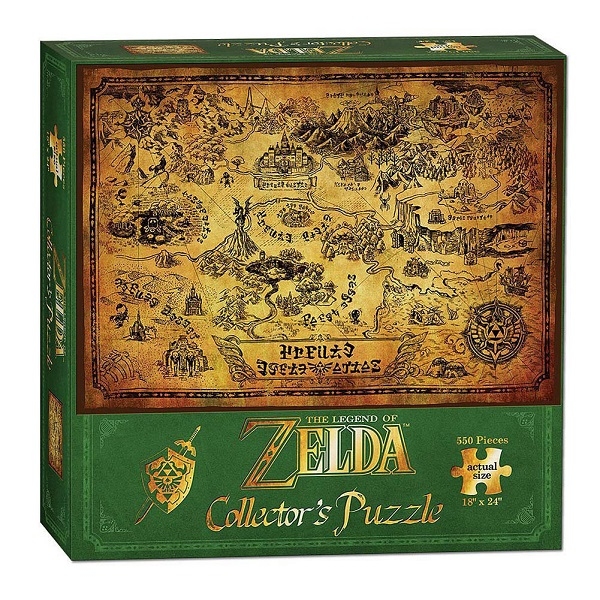 Legend of Zelda Puzzle Hyrule Map 550 peças
