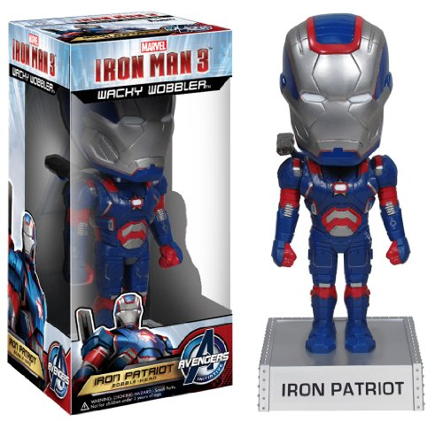 Funko Iron Man 3 The Movie - Iron Patriot Wacky Wobbler bobble Head 18 cm