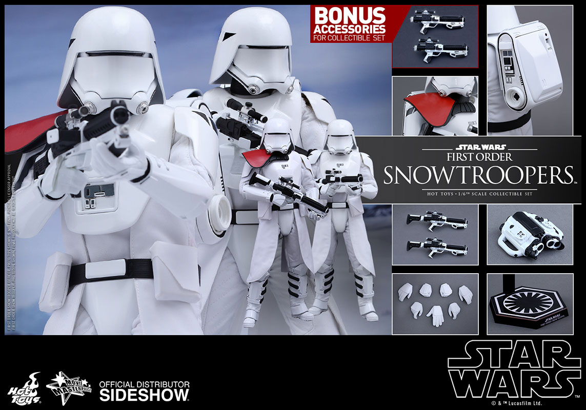 Star Wars - Episode VII: First Order Snowtroopers 1/6 figure Set 30 cm