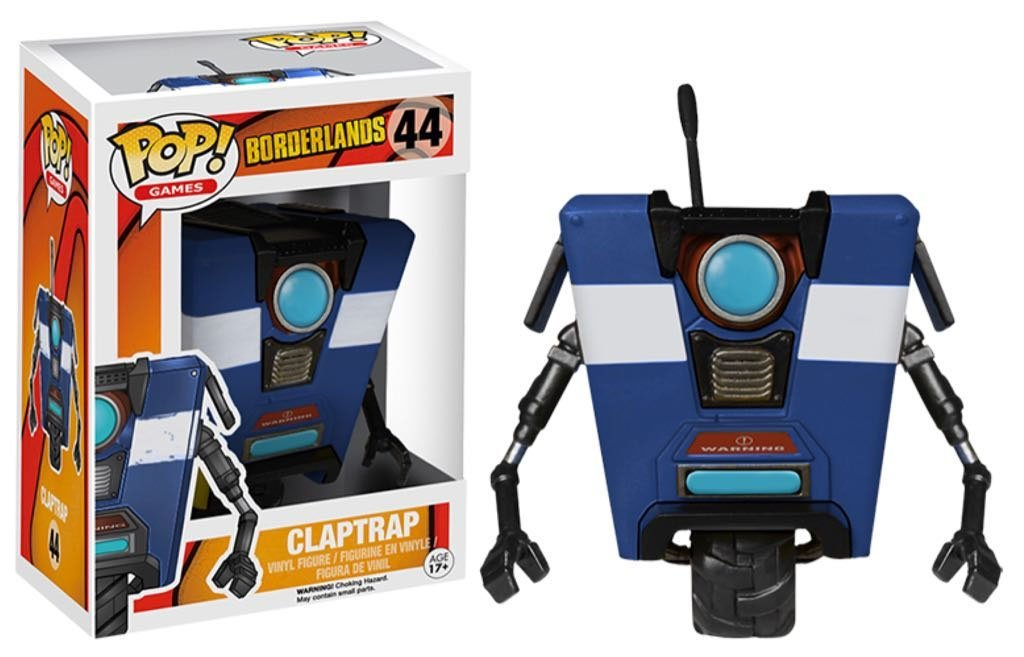 Funko POP! Borderlands - Claptrap Blue Vinyl Figure 10cm Limited Edition