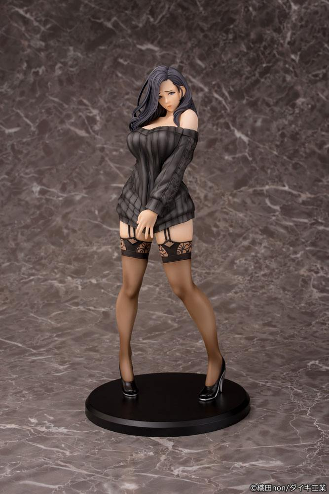 Non Oda Illustration Statue 1/6 Shiho Kujo Black Hair Version 30 cm