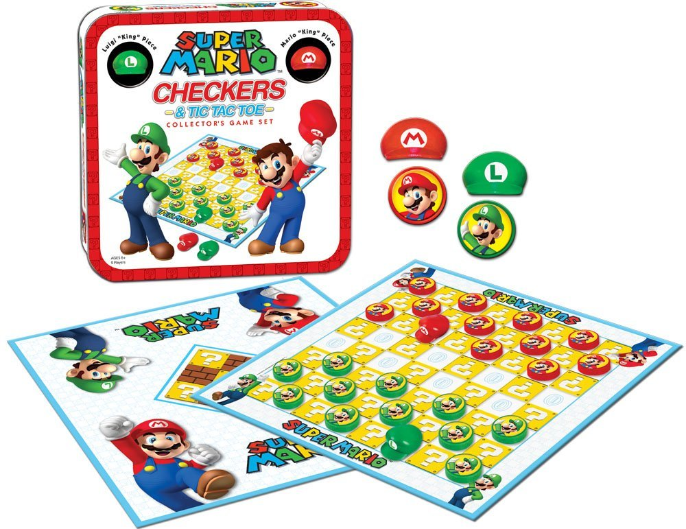 Super Mario Boardgame Checkers / Jogo de Damas Collector's Game