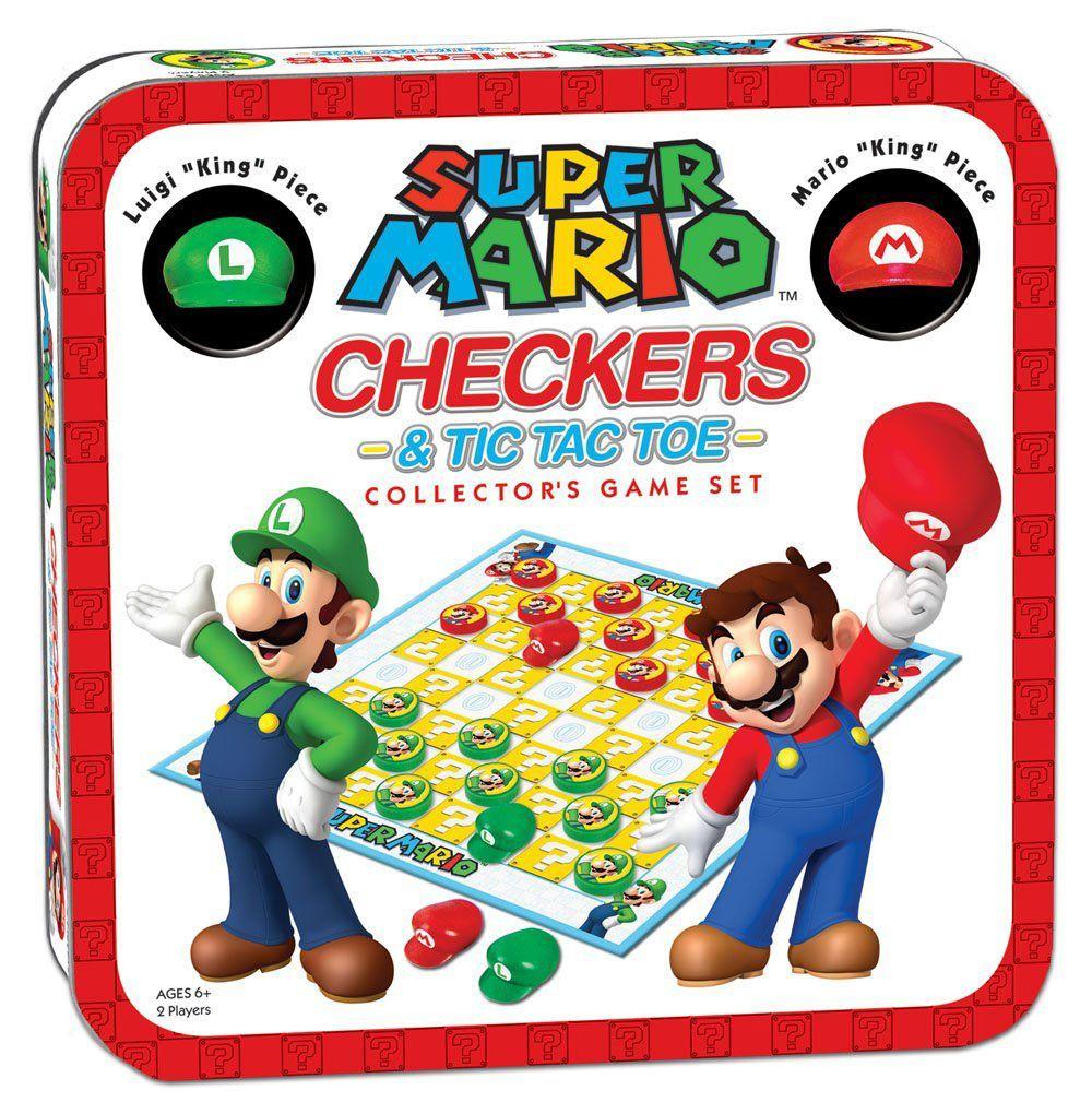 Super Mario Boardgame Checkers / Jogo de Damas Collector's Game