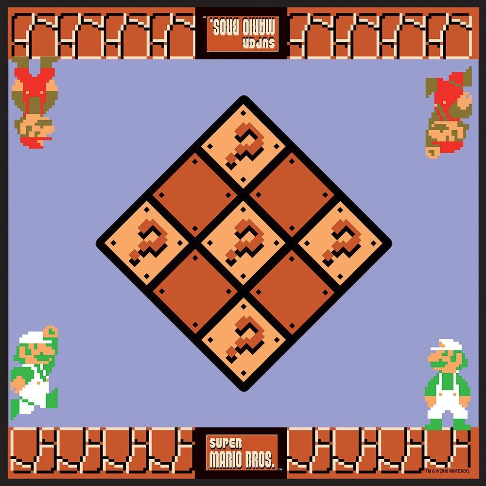 Super Mario Bros. Boardgame Checkers / Jogo de Damas Collector's Edition