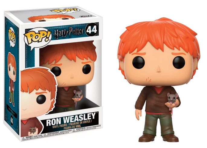 Pop! Harry Potter: Ron with Scabbers Vinyl Figure 10 cm