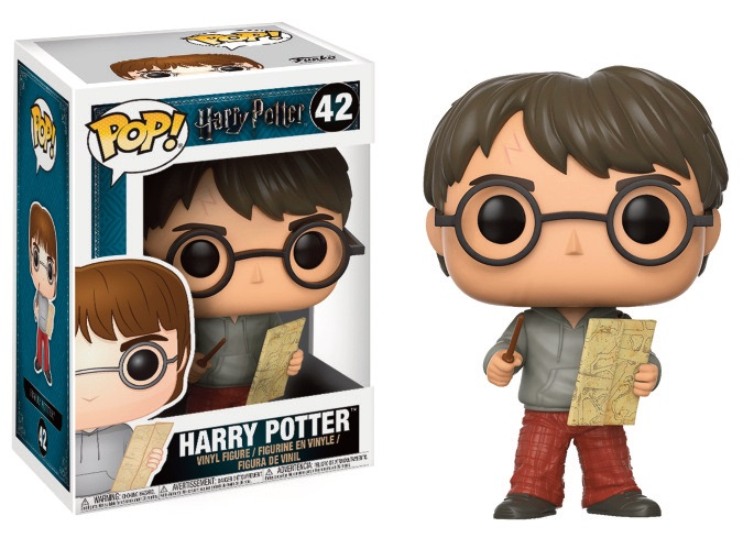 Pop! Harry Potter: Harry with Marauders Map Vinyl Figure 10 cm