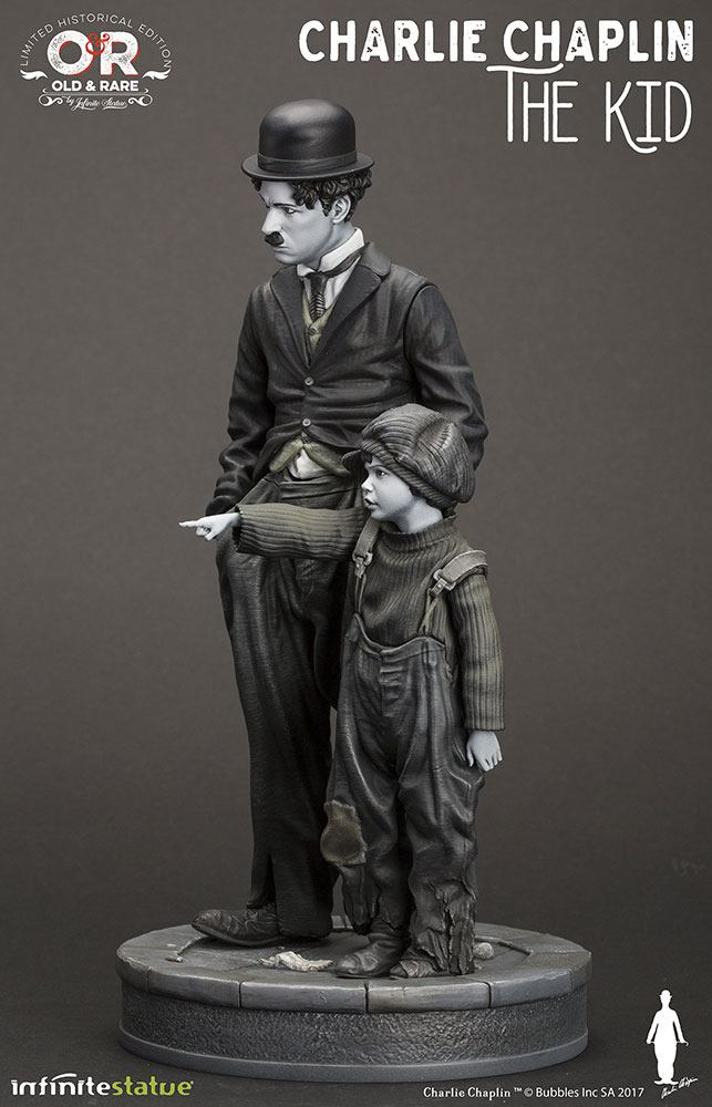 Charlie Chaplin Old & Rare Statue Charlie Chaplin The Kid 25 cm