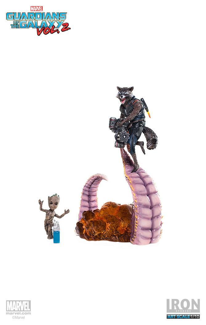 Guardians of the Galaxy Vol. 2 Battle Diorama Statue 1/10 Rocket & Groot