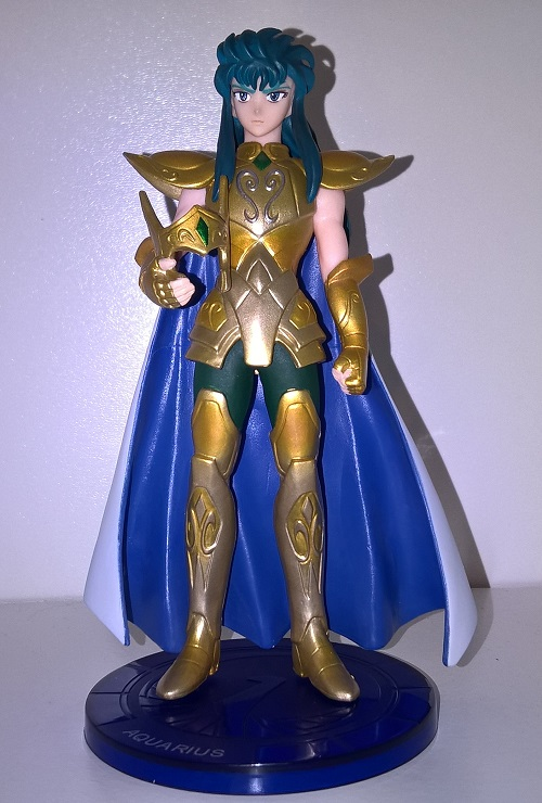 Estátua Saint Seiya - Aquarius Camus + base 14 cm