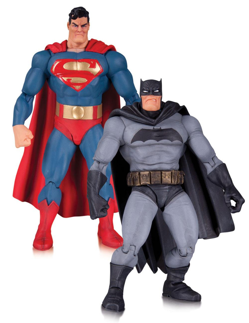 The Dark Knight Returns AF 2-Pack Superman & Batman 30th Anniversary 17 cm