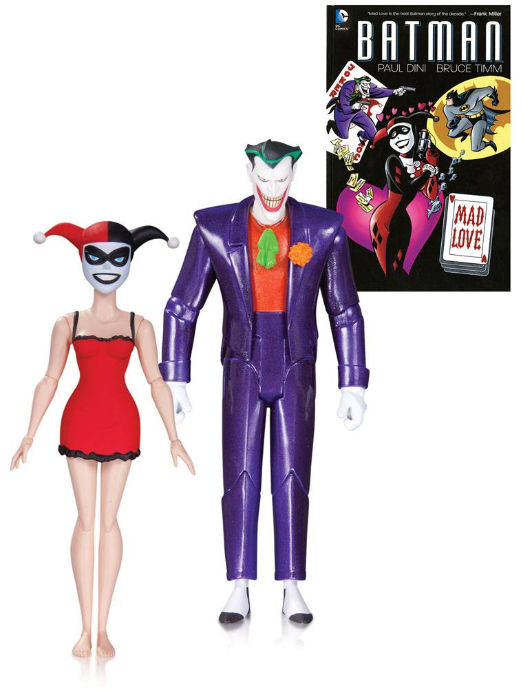 Batman The Animated Series AF 2Pack The Joker & Harley Quinn Mad Love 15 cm