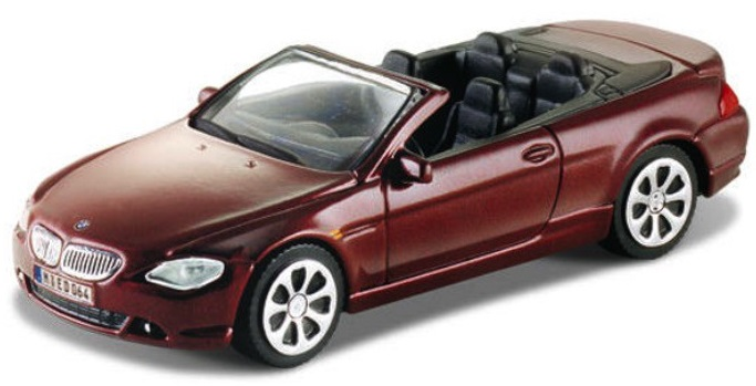 BMW 645 CI Cabrio 2008 Scale 1:43 (Rood/Bordo)