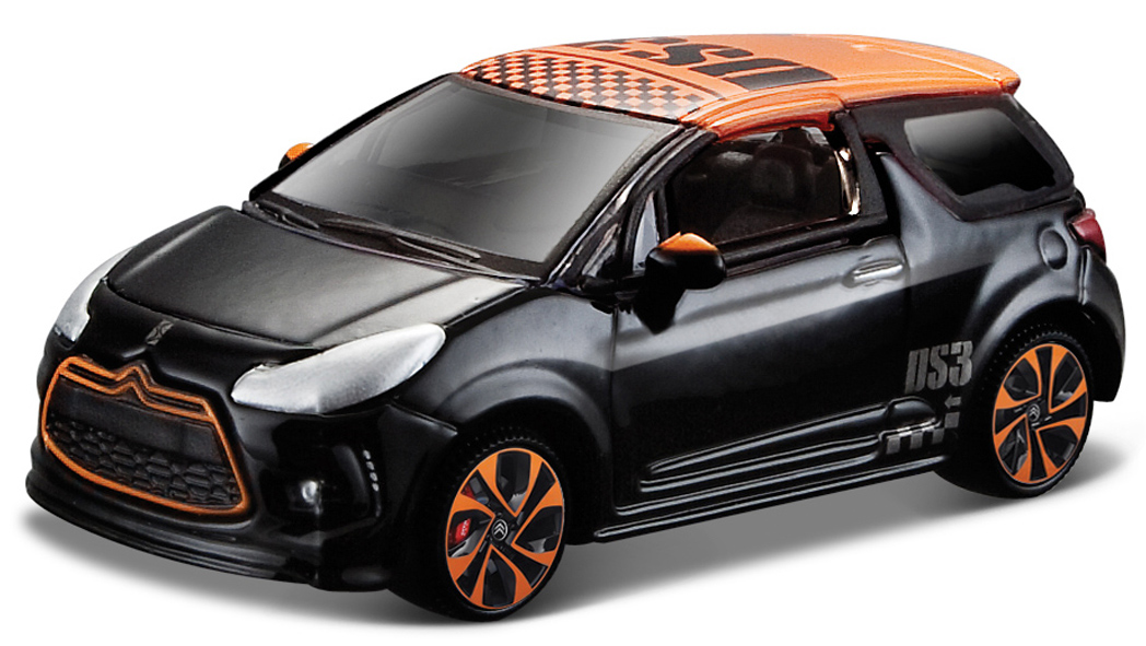 Citroen DS3 Scale 1:64 (Black/Preto)