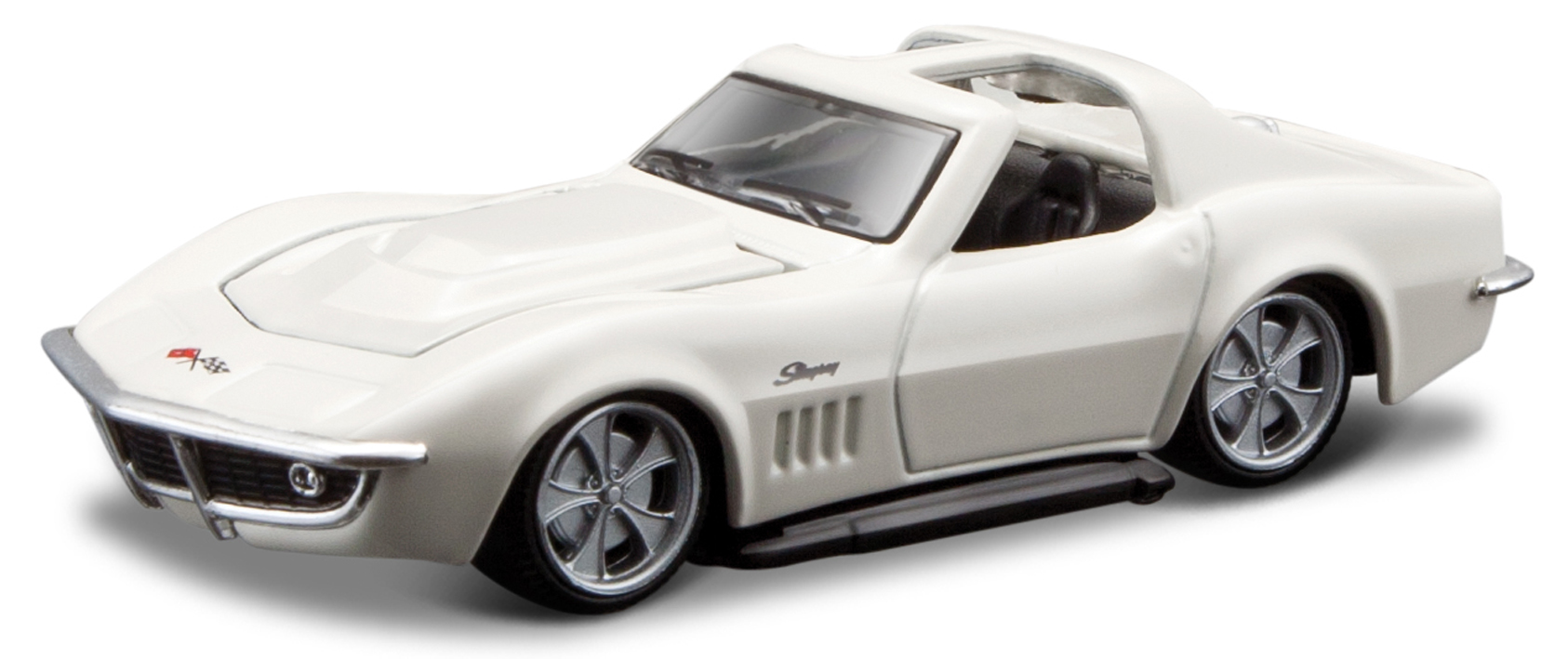 Chevrolet Corvette Coupe 1969 Scale 1:64 (White/Branco)