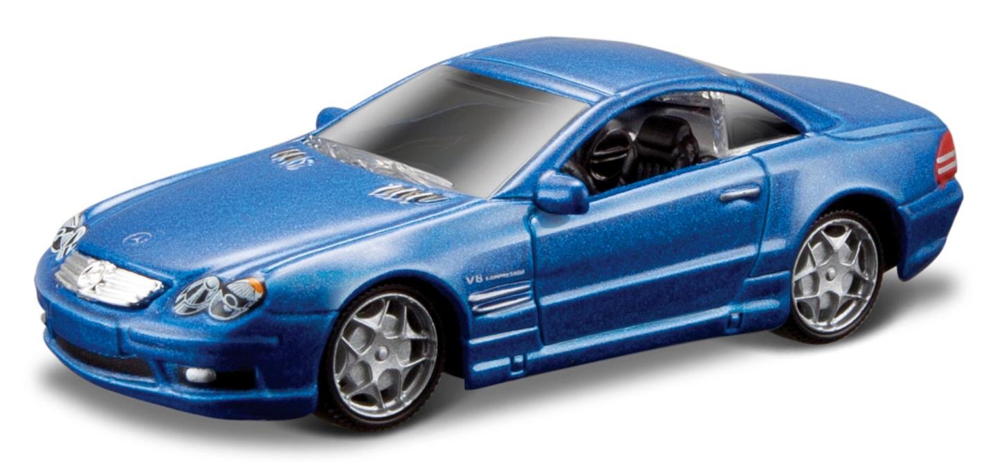 Mercedes Benz SL-55 AMG 2003 Scale 1:64 (Blue Metalic/Azul Metálico)