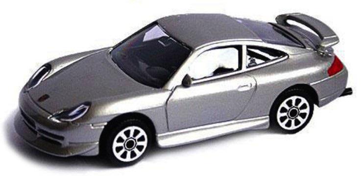 Porsche 911 Turbo 2006 Scale 1:64 (Grey/Cinzento)
