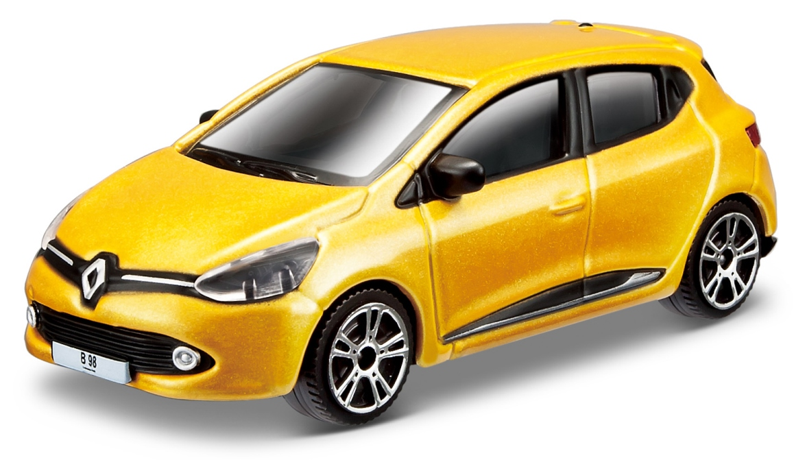 Renault Clio Scale 1:64 (Yellow/Amarelo)