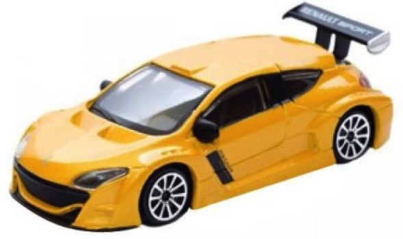 Renault Megane 2010 Scale 1:43 (Yellow/Amarelo)