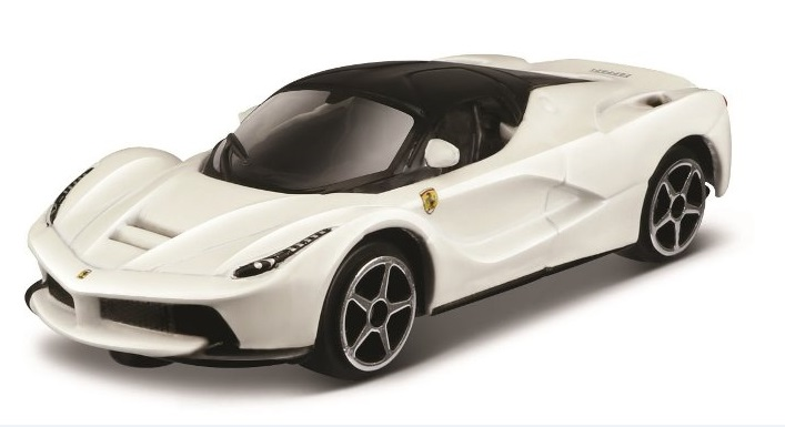 Ferrari Laferrari Race & Play Scale 1:64 (White/Branco)