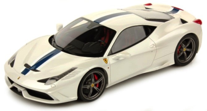 Ferrari 458 Speciale Race & Play Scale 1:64 (White/Branco)