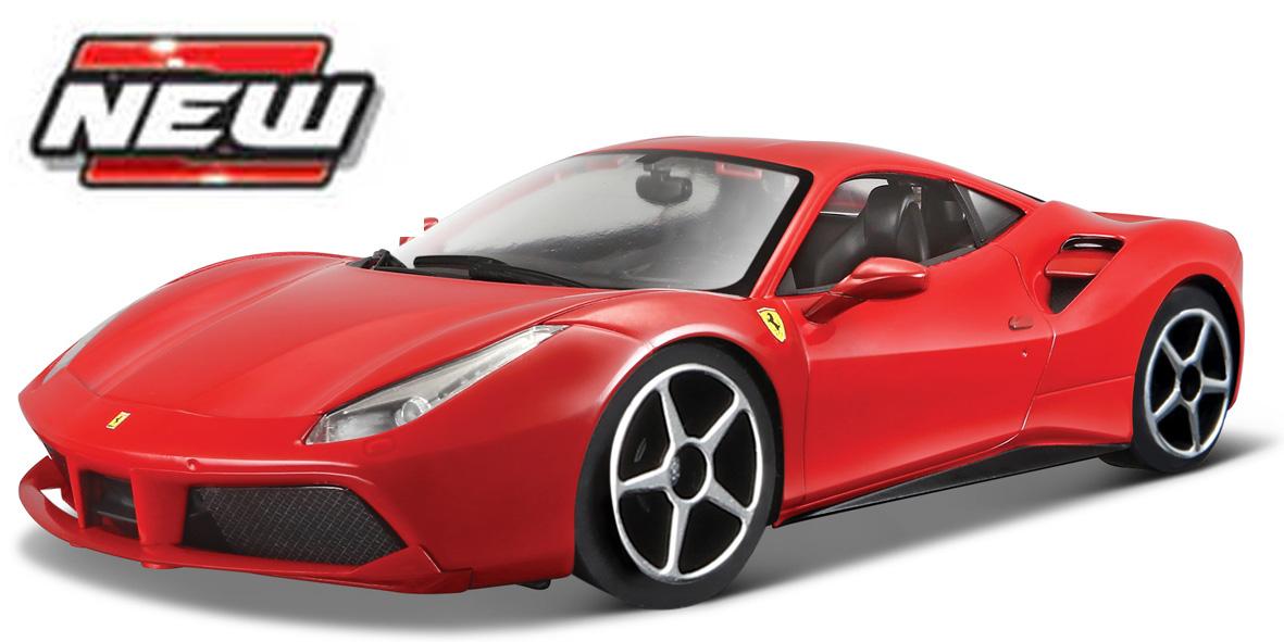 Ferrari 488 GTB Race & Play  Scale 1:64 (Red/Vermelho)
