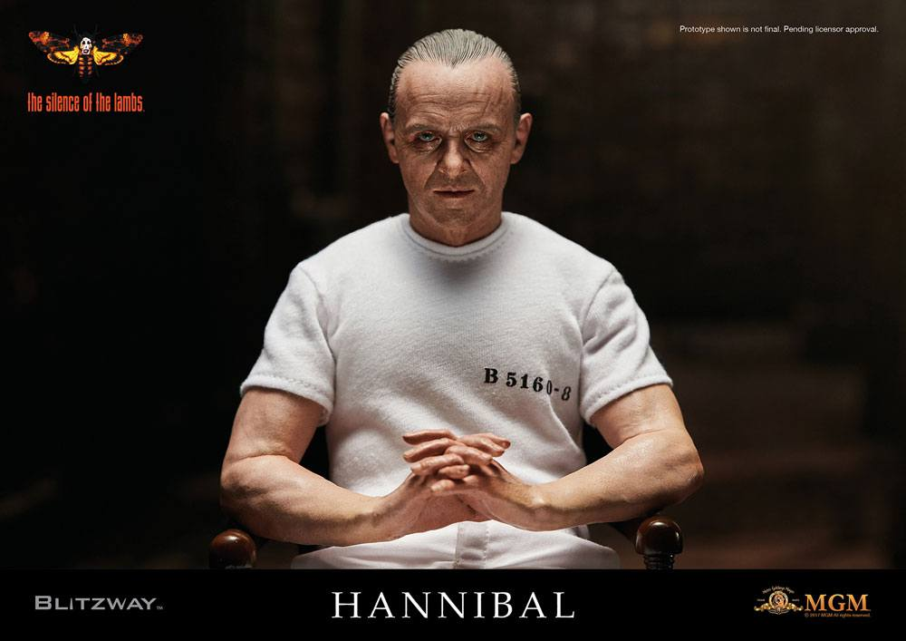 The Silence of the Lambs AF 1/6 Hannibal Lecter White Prison Uniform Ver.