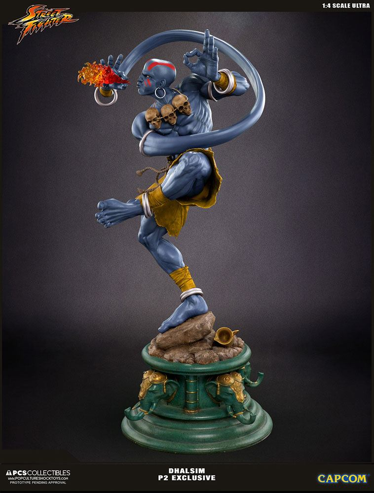 Street Fighter V Ultra Statue 1/4 Dhalsim Player 2 Exclusive 62 cm