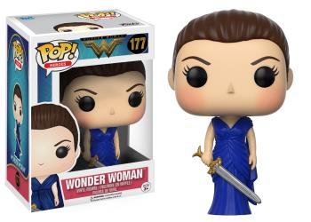 Pop! DC: Wonder Woman in Blue Gown Exclusive Edition Vinyl Figure 10 cm