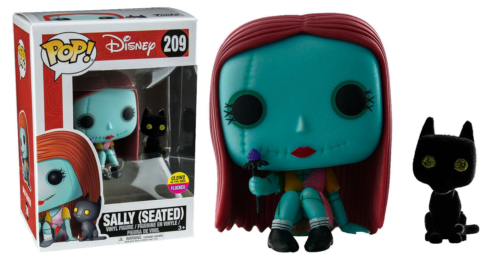 Pop! Disney: Glow in the Dark - Seated Sally with Cat Vinyl Figure 10 cm