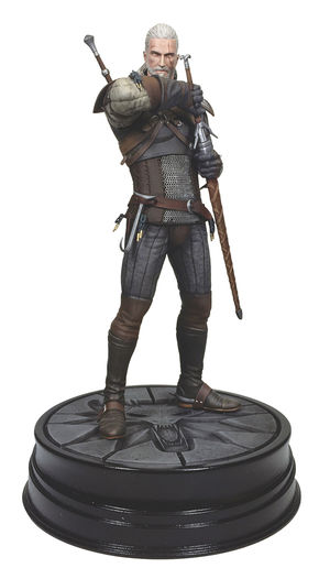 Estátua The Witcher 3: Geralt of Rivia 23 cm