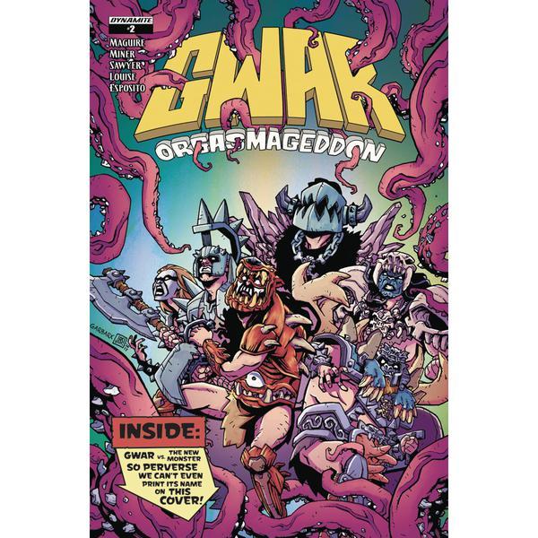 Dynamite Comics - GWAR: Orgasmageddon #2 (Oferta Capa Protectora)