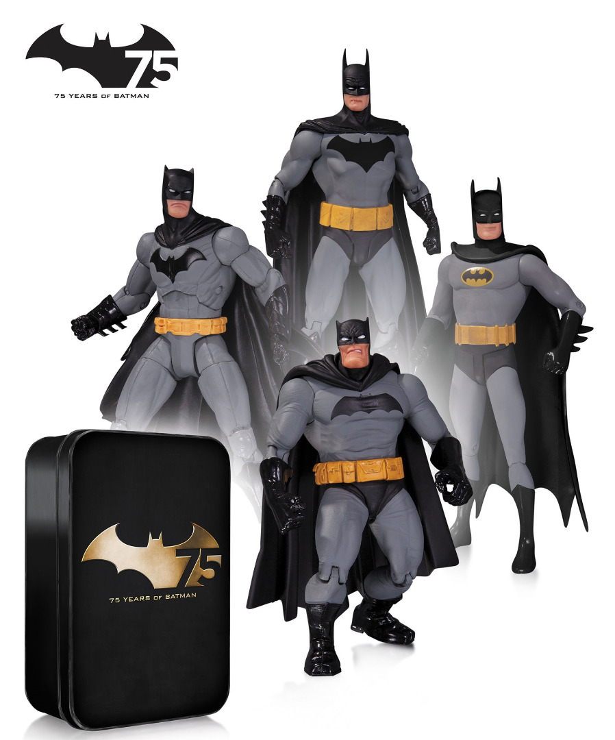 Batman Action Figure 4-Pack 75th Anniversary Set Collectors Edition 17 cm