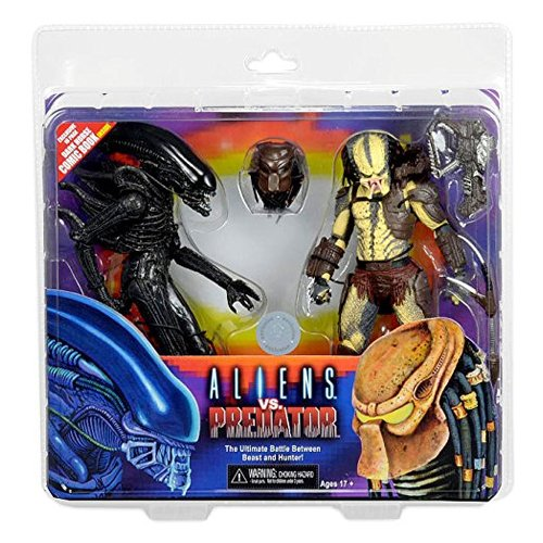Alien vs. Predator Action Figure 2-Pack Renegade Predator vs Big Chap Alien